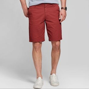 Goodfellow & Co Red Slim Flat Front Chino Shorts